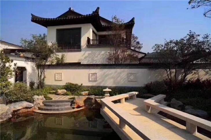 方圆东江月岛中式合院别墅,一门一匾 中国人骨子里的宅院风范