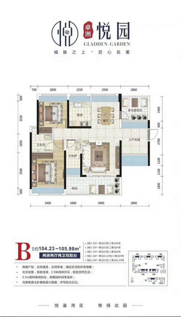 哪个楼盘距离大亚湾万达广场最近?对面是什么楼盘,价格面积多少?