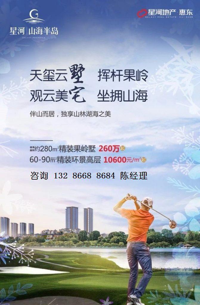 惠州惠东巽寮湾星河山海半岛别墅 ,高层户型图详细介绍说明