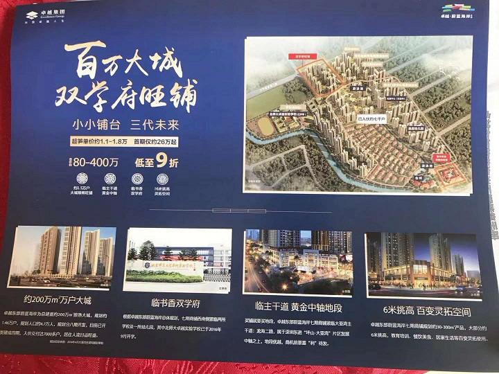 大亚湾卓越东部蔚蓝海岸41,42,43到52栋600套洋房即将开盘 商铺在售,精装特价房降价?