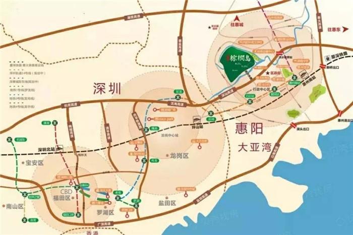 临深惠州地铁14号线白云站 惠阳恒大棕榈岛紫荆学府精装小户型距离地铁口最近吗